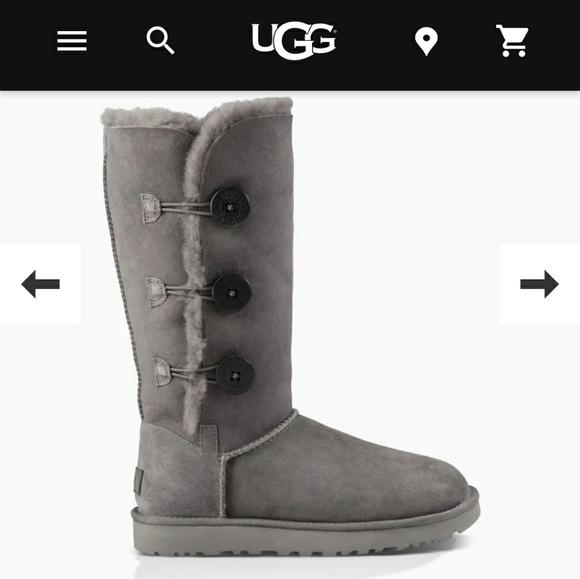 d3adafdebfa UGG Bailey 3 button tall gray sheepskin boots